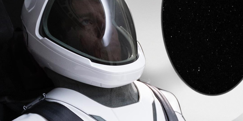 Musk reveals the first full-length look at the SpaceX flight suit.