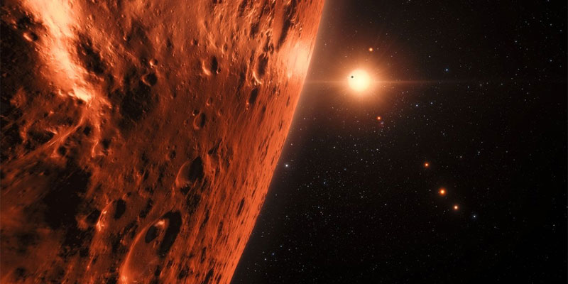A dwarf star, TRAPPIST-1 located 40 light years away from Earth could hold the building blocks of life.