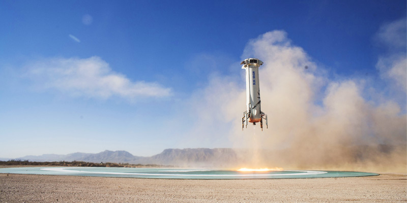 Blue Origin complete test of their upgraded crew capsule launching aboard the company's New Shepard launch vehicle.