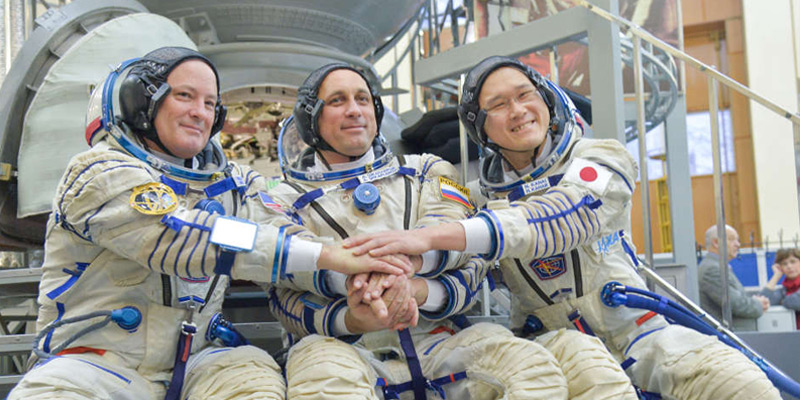 Early Sunday morning, the three-man ISS Expedition 54-55 Crew launched aboard a Soyuz rocket.