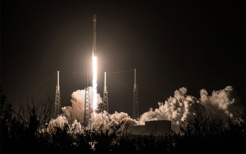 Spanish Hispasat 30W-6 communications satellite is deployed into a geostationary orbit during the SpaceX Falcon 9's 50th mission.
