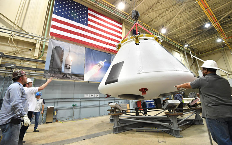 Preparation for the Ascent Abort Test 2 of NASA's Orion crew module is moving ahead.