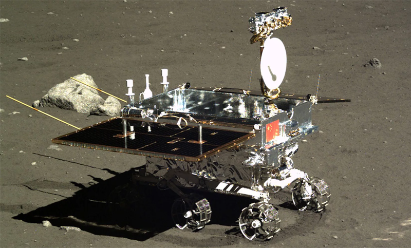 The Chang'e-3 rover on the surface of the moon.