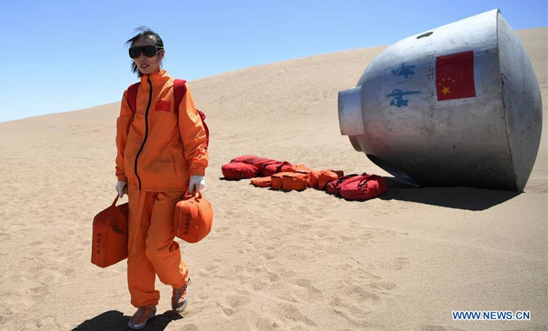 Wang Yaping during astronaut desert survival training.
