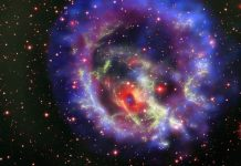 Astronomers have discovered a rare neutron star (E0102) 200,000 light years from Earth.