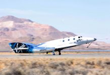 VSS Unity touches down following second supersonic powered flight test.