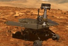 Mars Opportunity rover enters ow-power mode after being engulfed by massive dust storm.