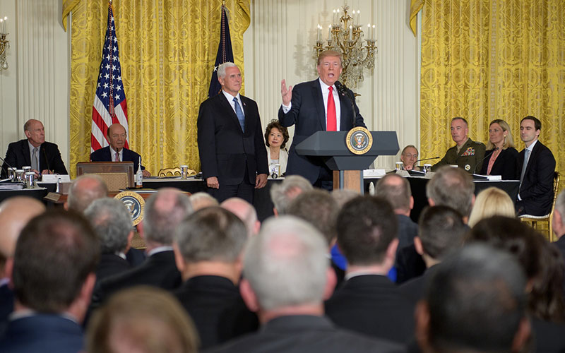 President Trump directs Pentagon to create Space Force.