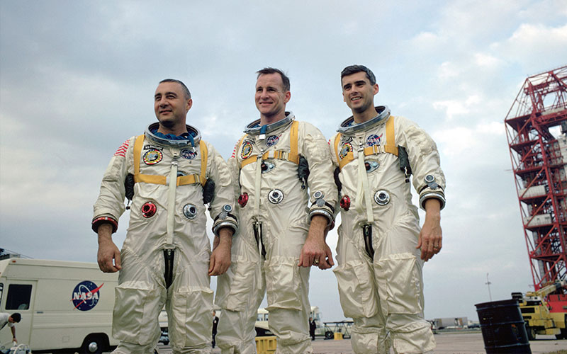 The crew of the Apollo 1 mission that lost their lives after a flash fire engulfed the capsule during testing.
