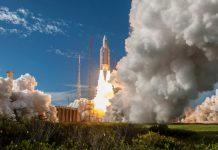 Arianespace launch 99th Ariane 5 rocket deploying 4 Galileo satellites.