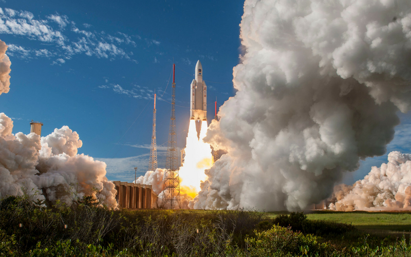 Arianespace launch 99th Ariane 5 rocket deploying 4 Galileo satellites.