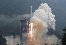 China set national record with launch of twin Beidou satellites aboard a Long March 3B.