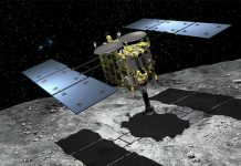 Hayabusa 2 spacecraft approaches to within 400 meters of the surface of the 162173 Ryugu asteroid on August 6.
