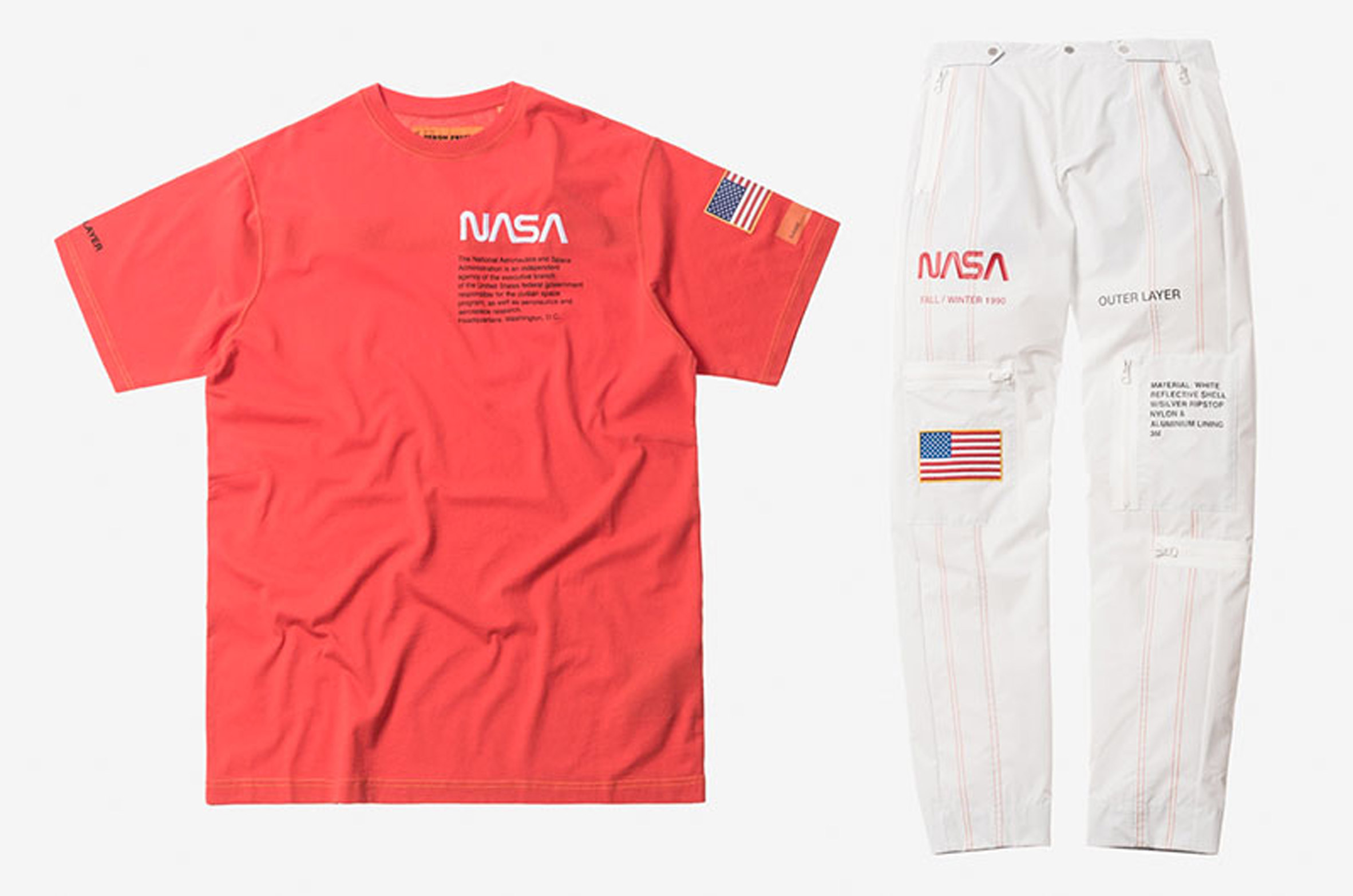 NASA inspire high fashion as Heron Preston commemorates the agency's 60th anniversary with its Capsule collection.
