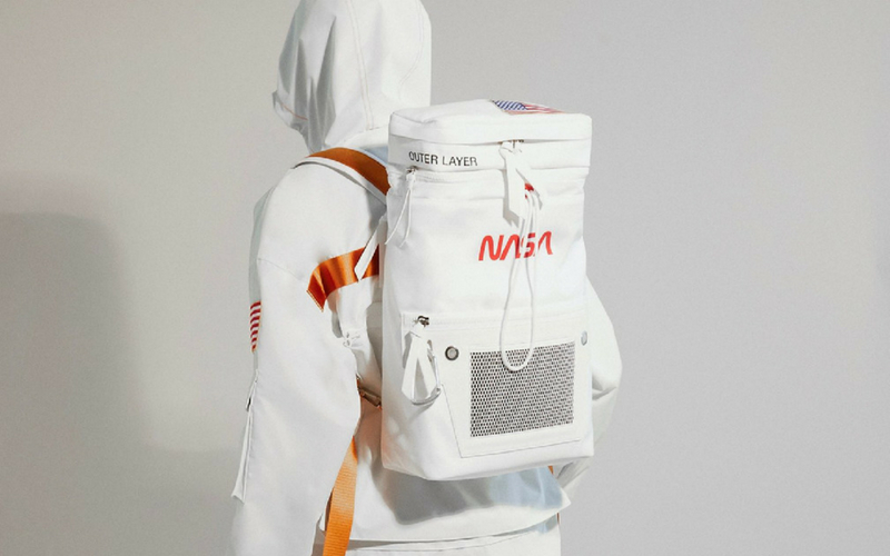 Heron Preston create fashion collection inspired by the visual history of NASA.