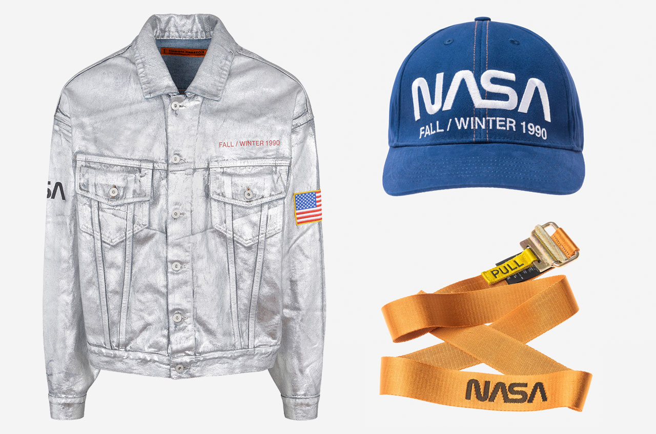 Fashion designer Heron Preston commemorates NASA's 60th anniversary with Capsule street fashion collection.