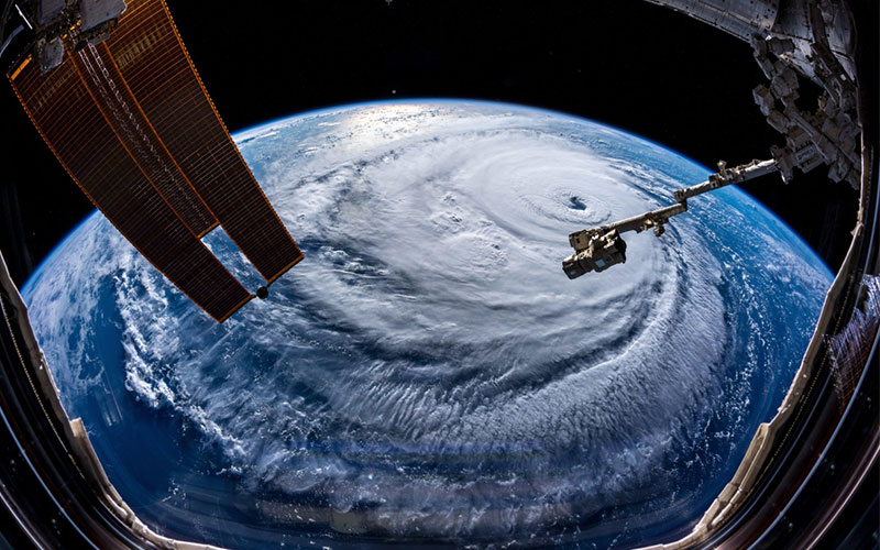 ESA astronaut Alexander Gerst snapped these beautiful and terrifying pictures of Hurricane Florence.