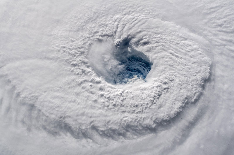 Alexander Gerst captures awe-inspiring shots of Hurricane Florence from space station.