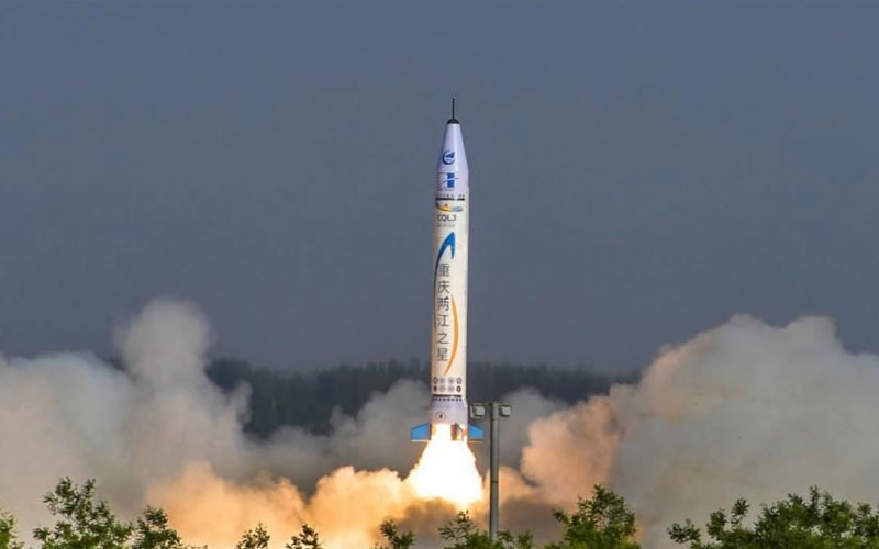 The maiden launch of the sub-orbital OneSpcace Chongqing Liangjiang Star rocket.