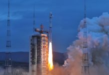 China have launched the Haiyang-2B ocean observation satellite aboard a Long March 4B from Taiyuan Satellite Launch Centre.