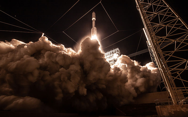The $1.8 billion Air Force AEHF-4 satellite blast off aboard a ULA Atlas V rocket.