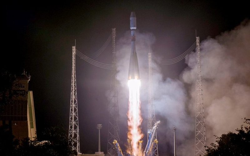 Arianespace launch European Metop-C weather satellite aboard Soyuz rocket.