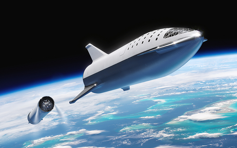 SpaceX founder and CEO has announced the development of a min-BFR Ship upper stage for the Falcon 9 rocket.