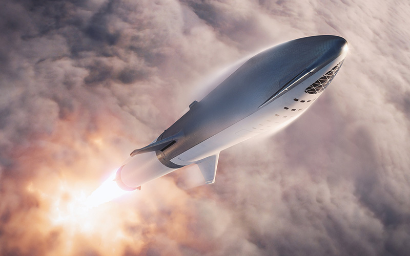 Elon Musk announced on Twitter that SpaceX has redesigned the BFR and scrapped planned upgrades to the Falcon 9 upper stage.
