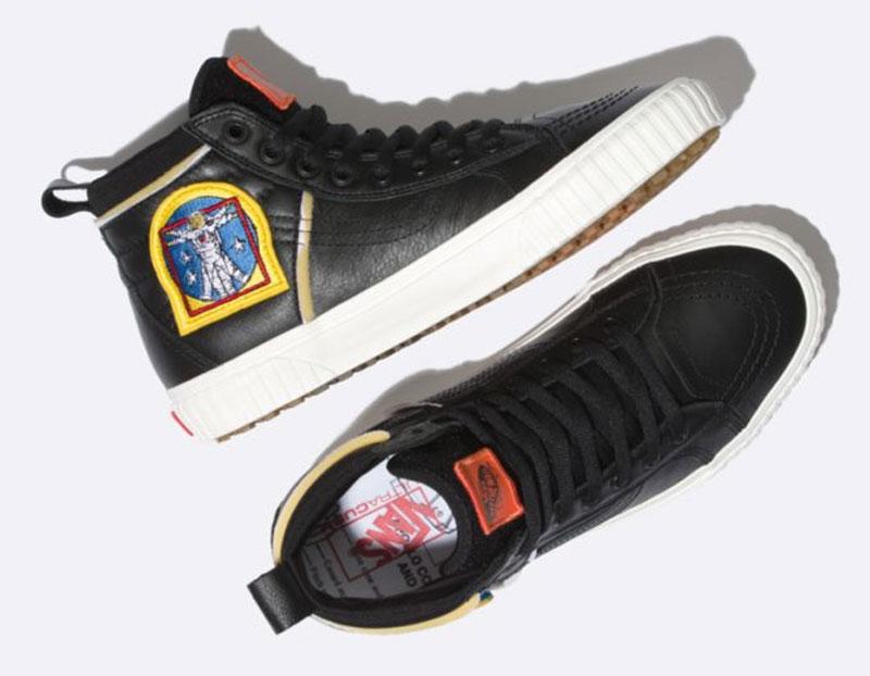 NASA-inspired Vans X Space Voyager SK8-Hi 46 MTE DX Black sneaker.