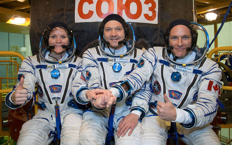 The International Space Station Expedition 58 crew has successfully launched aboard the Soyuz MS-11 spacecraft.
