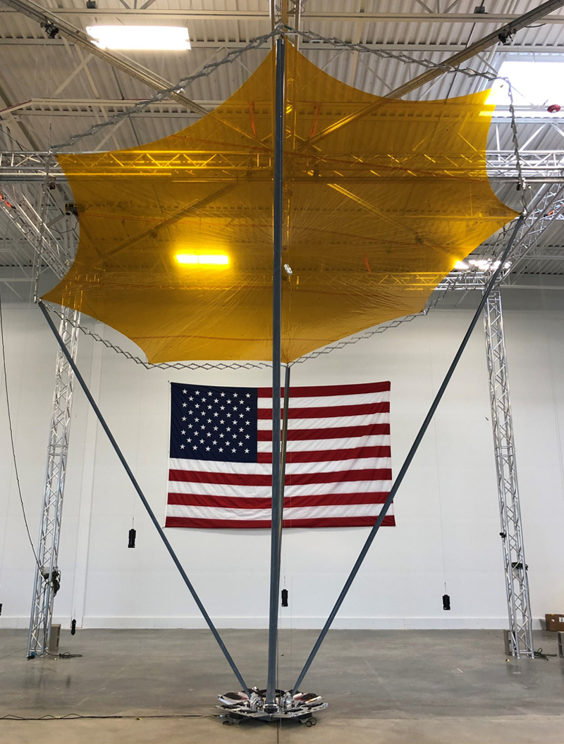 DARPA's Radio Frequency Risk Reduction Deployment Demonstration (R3D2 ) prototype reflect array antenna is set to be launched aboard a Rocket Lab Electron rocket in February.
