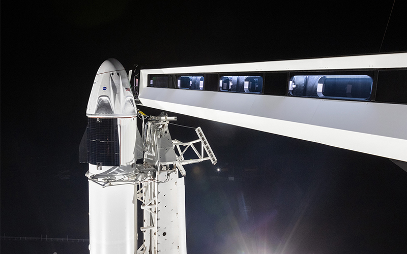 SpaceX target January 23 for static fire test and February 16 for Demo-1 launch.