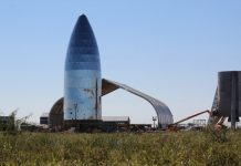 Construction of the Starship Hopper is progressing at SpaceX's Boca Chica facility.