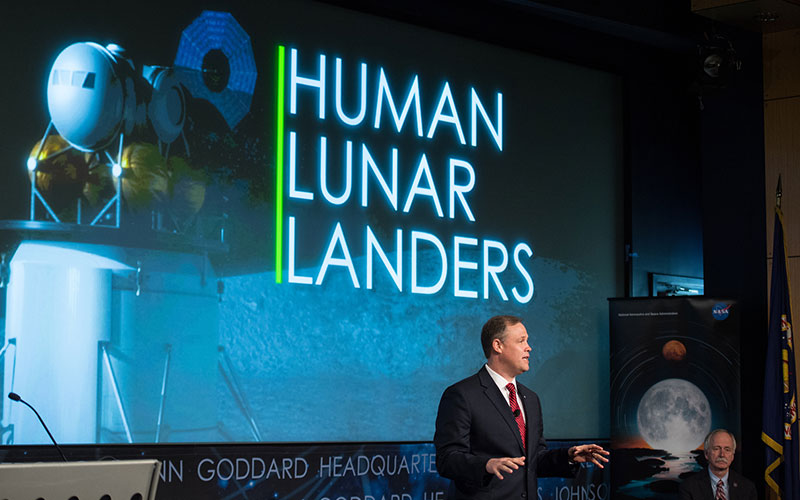 NASA Administrator Jim Bridenstine has expressed the agency's desire to return to the moon as soon as possible.