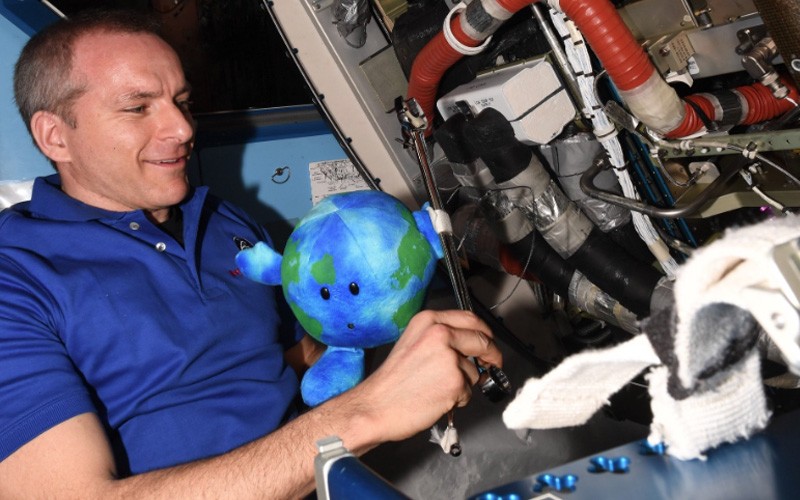 ISS Crew Member Earth Continues Work Aboard the Station gallery 3.