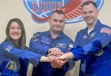 Soyuz MS-12 Expedition 59 crew safely arrive at International Space Station.