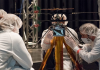 NASA Mars 2020 teams conducted flight tests of the Mars Helicopter in JPL's Twenty-Five-Foot Space Simulator.