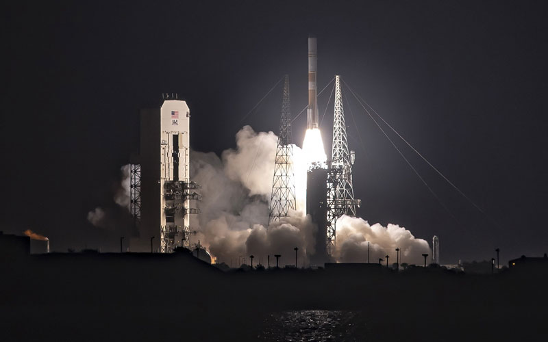 The DOD WGS-10 military communications satellite has been successfully launched aboard a Delta IV Medium+ (5,4).