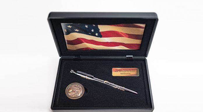 The Fisher Space Pen company has released a commemorative Apollo 11 space pen.
