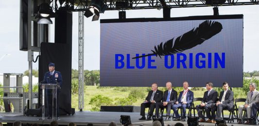 Blue Origin tease announcement with cryptic tweet.