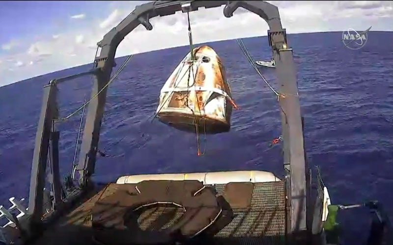A SpaceX Crew Dragon spacecraft has suffered a catastrophic failure during testing.