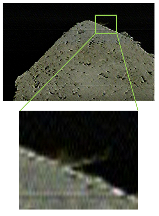 Hayabusa2 SCI impacts with the surface of Ryugu.