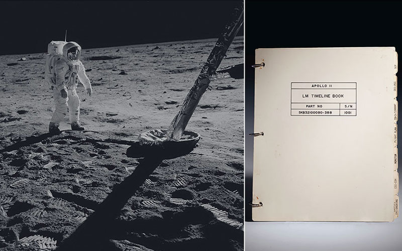 Apollo 11 Lunar Module Timeline Book to be auctioned.
