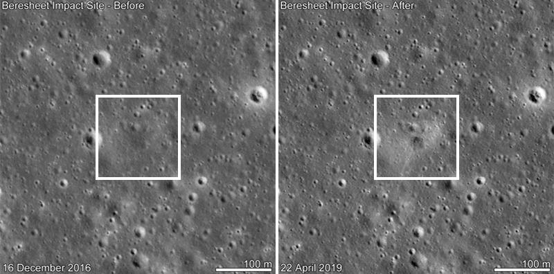 NASA's Lunar Reconnaissance Orbiter has spotted the Beresheet crash site.