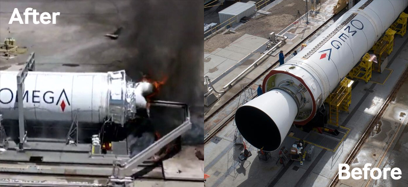 Northrop Grumman OmegA test before and after.