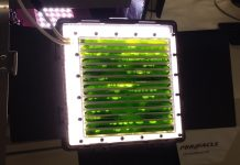 An algae-powered bioreactor developed by the German Aerospace Center will produce food and oxygen for astronauts.