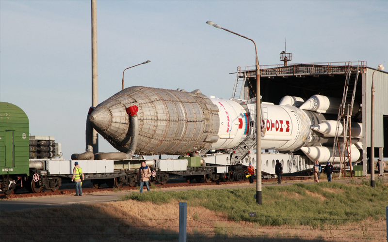 Proton-M Raised at Baikonur Cosmodrome Gallery 1.