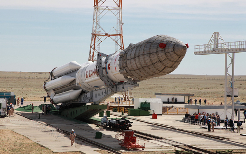 Proton-M Raised at Baikonur Cosmodrome Gallery 4.