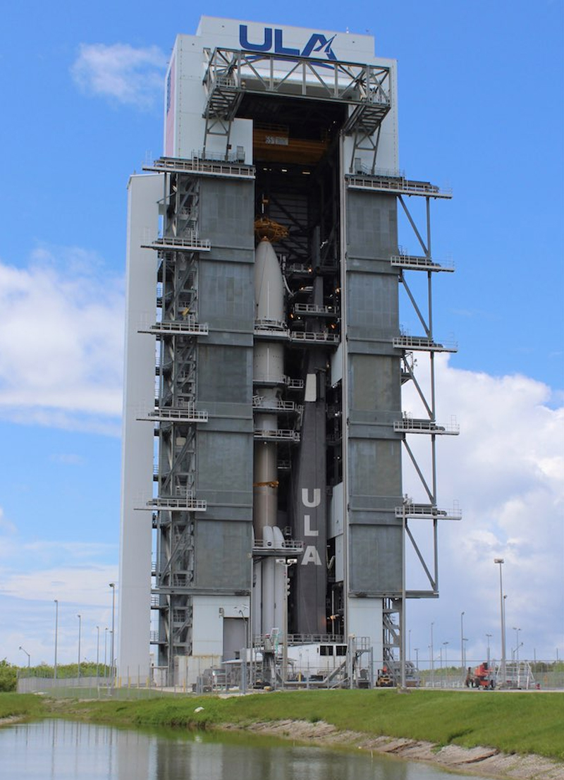 "United Launch Alliance delay launch of AEHF-5 satellite due to an Atlas V ""vehicle battery failure""."