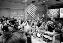 NASA's Mission Control Celebrates Apollo 11 Moon Landing.